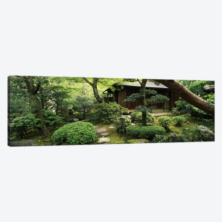 Temple in a garden, Yuzen-En Garden, Chion-In, Higashiyama Ward, Kyoto, Kyoto Prefecture, Kinki Region, Honshu, Japan Canvas Print #PIM6816} by Panoramic Images Canvas Wall Art