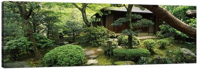 Temple in a garden, Yuzen-En Garden, Chion-In, Higashiyama Ward, Kyoto, Kyoto Prefecture, Kinki Region, Honshu, Japan Canvas Art Print