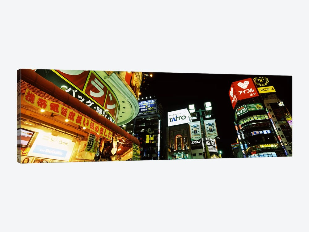 Illuminated Buildings At Night, Shinjuku Ward, Tokyo, Kanto Region, Honshu, Japan by Panoramic Images 1-piece Canvas Art Print