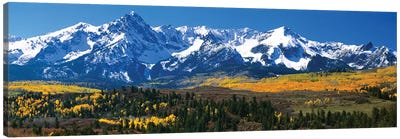 Snow-Covered Sneffels Range, Colorado, USA Canvas Art Print