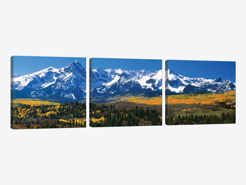 Snow-Covered Sneffels Range, Colorado, USA by Panoramic Images 3-piece Canvas Art Print