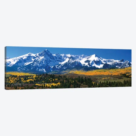 Snow-Covered Sneffels Range, Colorado, USA 3-Piece Canvas #PIM681} by Panoramic Images Canvas Artwork