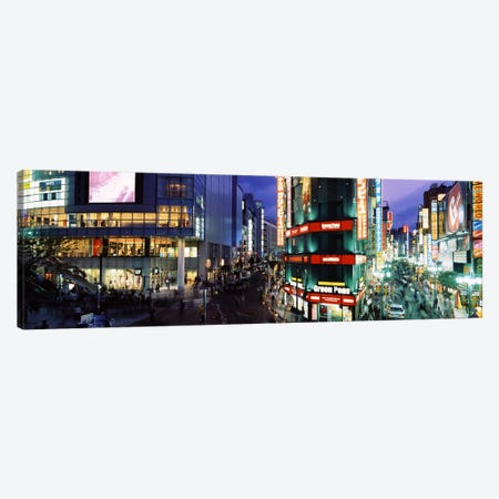 Shinjuku Special Ward At Night, Tokyo, Kanto Region, Japan Canvas Print #PIM6821} by Panoramic Images Canvas Wall Art