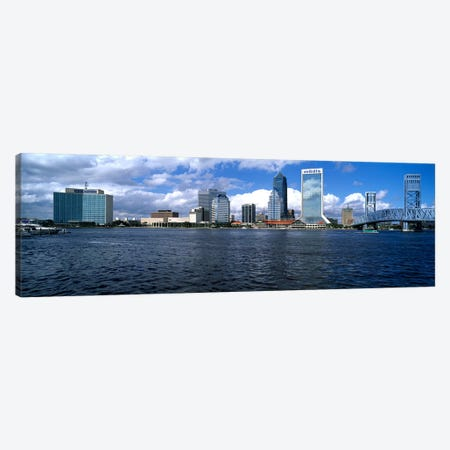 Buildings at the waterfront, St. John's River, Jacksonville, Duval County, Florida, USA Canvas Print #PIM6828} by Panoramic Images Canvas Art