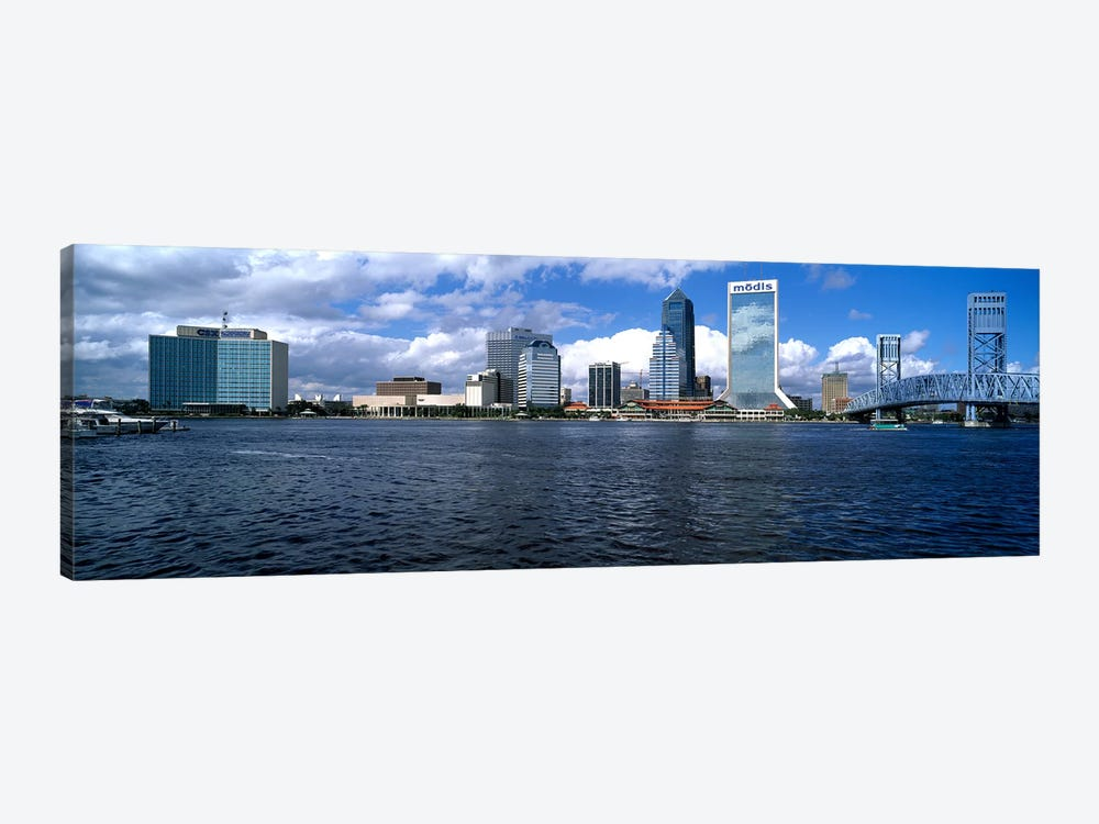 Buildings at the waterfront, St. John's River, Jacksonville, Duval County, Florida, USA by Panoramic Images 1-piece Art Print