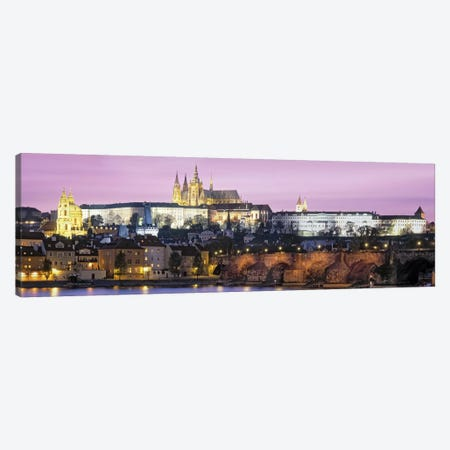 Arch bridge across a river, Charles Bridge, Hradcany Castle, St. Vitus Cathedral, Prague, Czech Republic Canvas Print #PIM6834} by Panoramic Images Canvas Wall Art