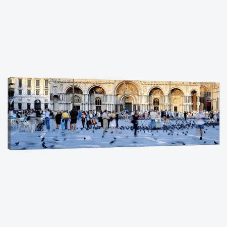 Tourists in front of a cathedral, St. Mark's Basilica, Piazza San Marco, Venice, Italy Canvas Print #PIM6835} by Panoramic Images Canvas Art