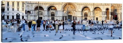Tourists in front of a cathedral, St. Mark's Basilica, Piazza San Marco, Venice, Italy Canvas Print #PIM6835