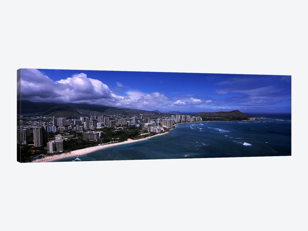 Buildings at the waterfront, Waikiki Beach, Honolulu, Oahu, Hawaii, USA #2 1-piece Canvas Print