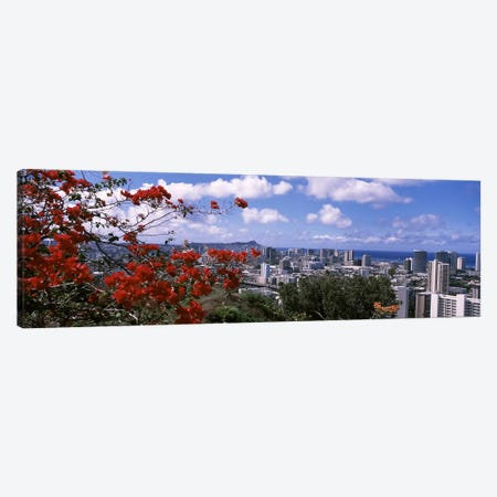 High angle view of a cityscape, Honolulu, Oahu, Hawaii, USA #2 Canvas Print #PIM6847} by Panoramic Images Art Print