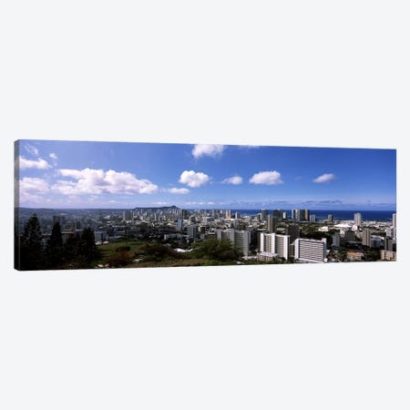 High angle view of a cityscape, Honolulu, Oahu, Hawaii, USA #3 Canvas Print #PIM6848} by Panoramic Images Canvas Wall Art