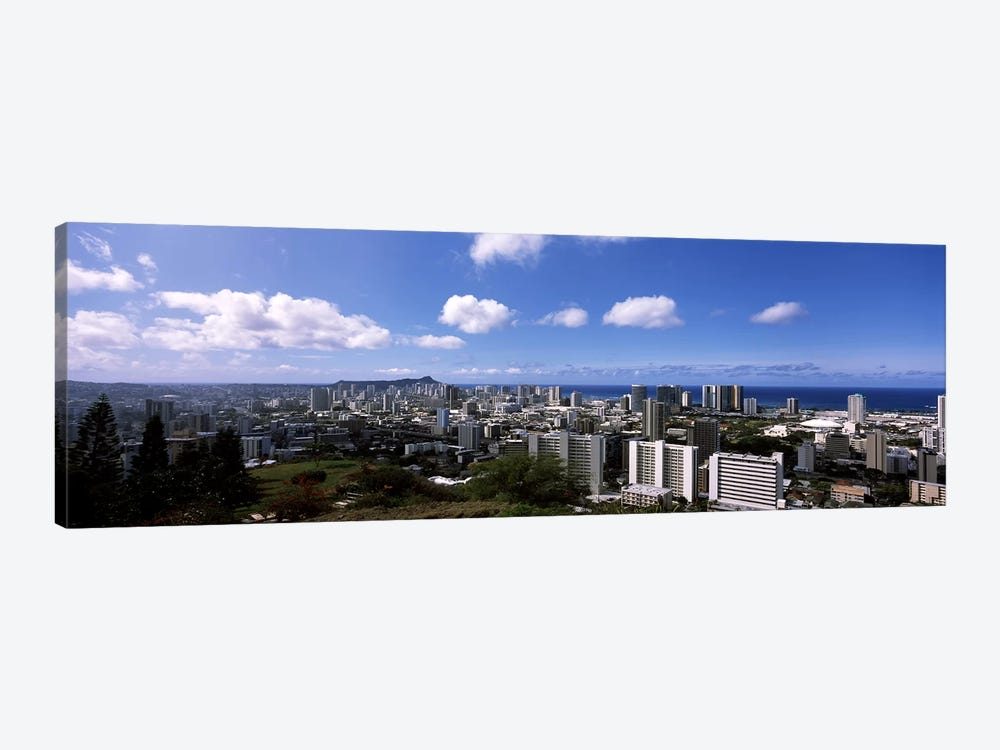 High angle view of a cityscape, Honolulu, Oahu, Hawaii, USA #3 by Panoramic Images 1-piece Canvas Art Print