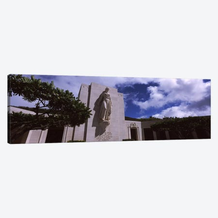 Low angle view of a statue, National Memorial Cemetery of the Pacific, Punchbowl Crater, Honolulu, Oahu, Hawaii, USA Canvas Print #PIM6849} by Panoramic Images Canvas Artwork