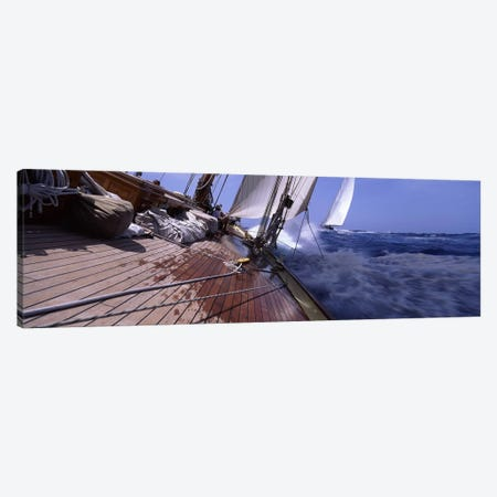 First Person Point Of View During A Yacht Race Canvas Print #PIM6851} by Panoramic Images Art Print