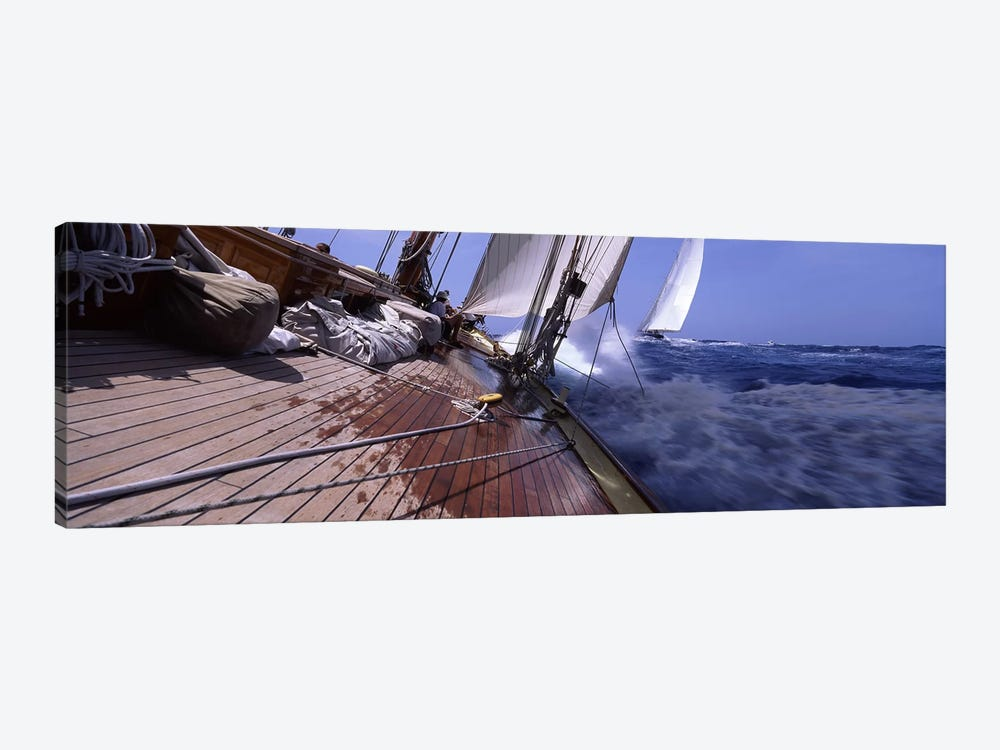 First Person Point Of View During A Yacht Race by Panoramic Images 1-piece Canvas Art Print