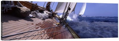 First Person Point Of View During A Yacht Race Canvas Art Print
