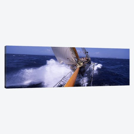 Sailing Yacht In Action, Near Antigua and Barbuda, Carribean Sea Canvas Print #PIM6852} by Panoramic Images Canvas Art Print