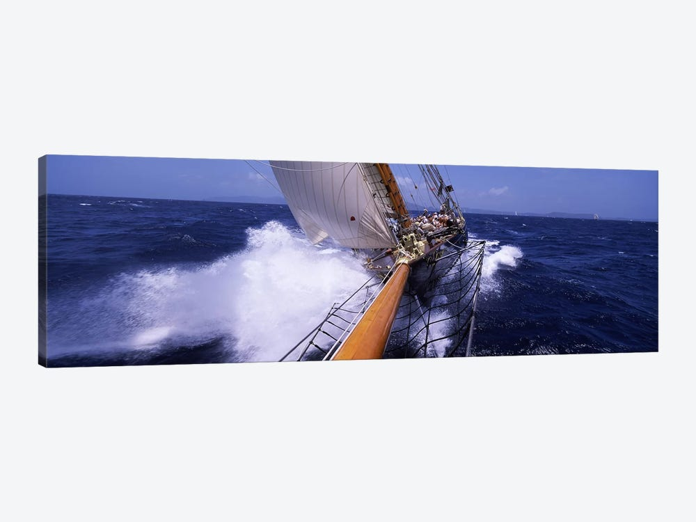 Sailing Yacht In Action, Near Antigua and Barbuda, Carribean Sea by Panoramic Images 1-piece Canvas Artwork