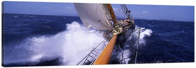 Sailing Yacht In Action, Near Antigua and Barbuda, Carribean Sea Canvas Art Print