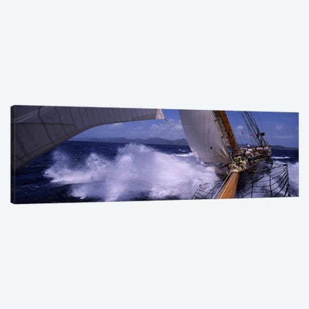 A Yacht Pounding Through The Sea Canvas Print #PIM6853} by Panoramic Images Art Print