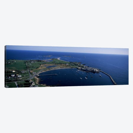 Aerial View Of Sakonnet Harbor, Little Compton, Newport County, Rhode Island, USA Canvas Print #PIM6859} by Panoramic Images Art Print