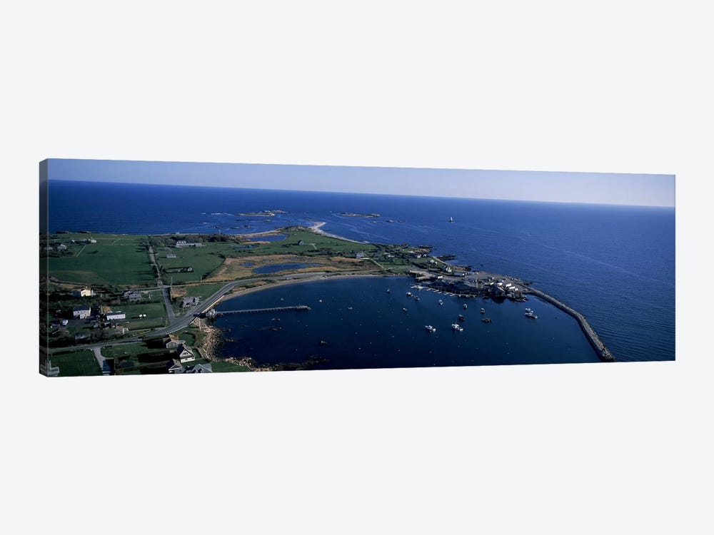 Aerial View Of Sakonnet Harbor, Little Compton, Newport County, Rhode Island, USA by Panoramic Images 1-piece Art Print