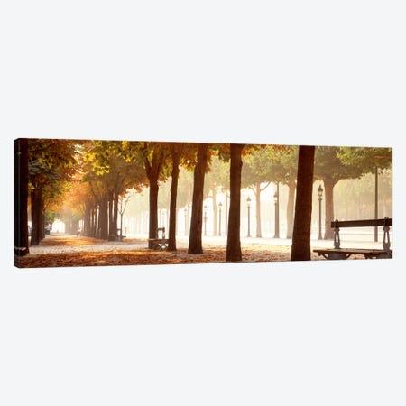 Pedestrian Walkway Along Avenue des Champs-Elysees, Paris, Ile-de-France, France Canvas Print #PIM685} by Panoramic Images Canvas Art Print