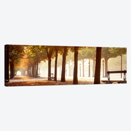 Pedestrian Walkway Along Avenue des Champs-Elysees, Paris, Ile-de-France, France Canvas Print #PIM685} by Panoramic Images Canvas Art Print