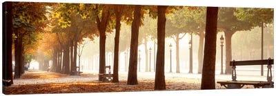 Pedestrian Walkway Along Avenue des Champs-Elysees, Paris, Ile-de-France, France Canvas Print #PIM685