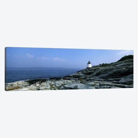 Castle Hill Lighthouse, Narragansett Bay, Newport, Rhode Island, USA Canvas Print #PIM6860} by Panoramic Images Canvas Wall Art