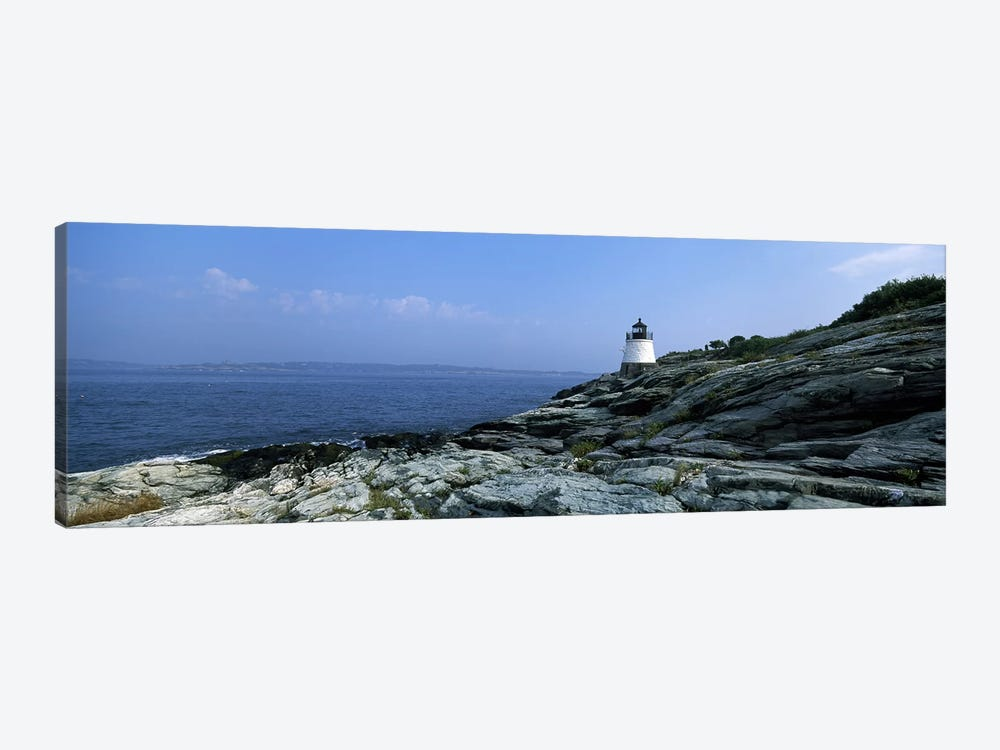 Castle Hill Lighthouse, Narragansett Bay, Newport, Rhode Island, USA by Panoramic Images 1-piece Art Print
