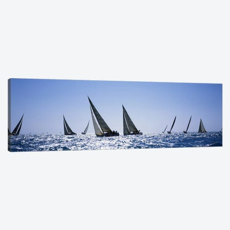 Sailboats racing in the sea, Farr 40's race during Key West Race Week, Key West Florida, 2000 Canvas Print #PIM6867} by Panoramic Images Canvas Art Print