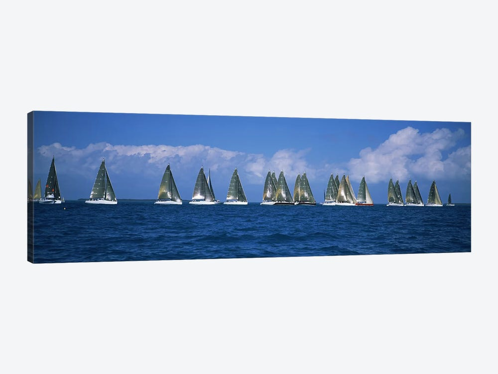 Sailboats racing in the sea, Farr 40's race during Key West Race Week, Key West Florida, 2000 #2 by Panoramic Images 1-piece Art Print