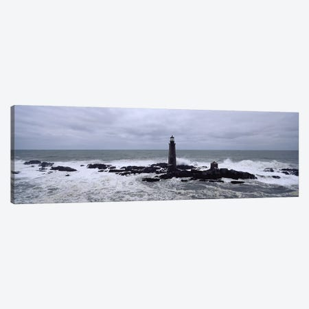 Lighthouse on the coast, Graves Light, Boston Harbor, Massachusetts, USA Canvas Print #PIM6869} by Panoramic Images Canvas Artwork