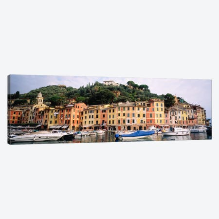 Harbor Houses Portofino Italy Canvas Print #PIM686} by Panoramic Images Canvas Art Print