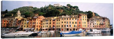 Harbor Houses Portofino Italy Canvas Print #PIM686