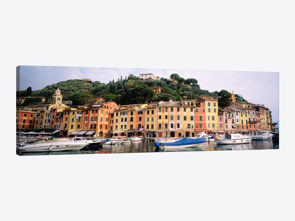 Harbor Houses Portofino Italy by Panoramic Images 1-piece Canvas Artwork