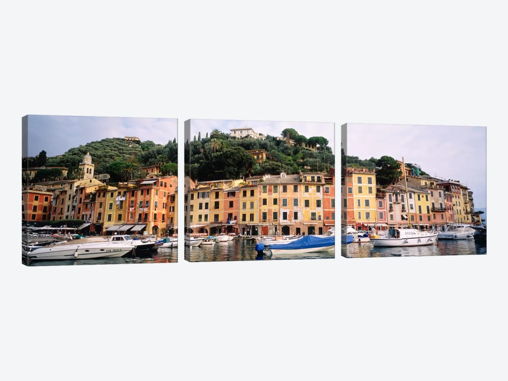 Harbor Houses Portofino Italy by Panoramic Images 3-piece Canvas Art