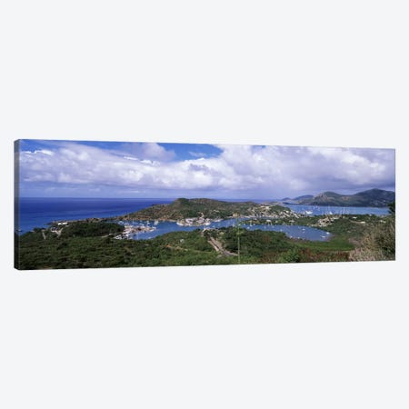 Aerial View Of English And Falmouth Harbours, Saint Paul Parish, Antigua and Barbuda Canvas Print #PIM6873} by Panoramic Images Art Print