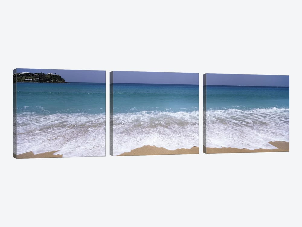 Bubbling Surf On A Beach, Antigua and Barbuda by Panoramic Images 3-piece Canvas Wall Art