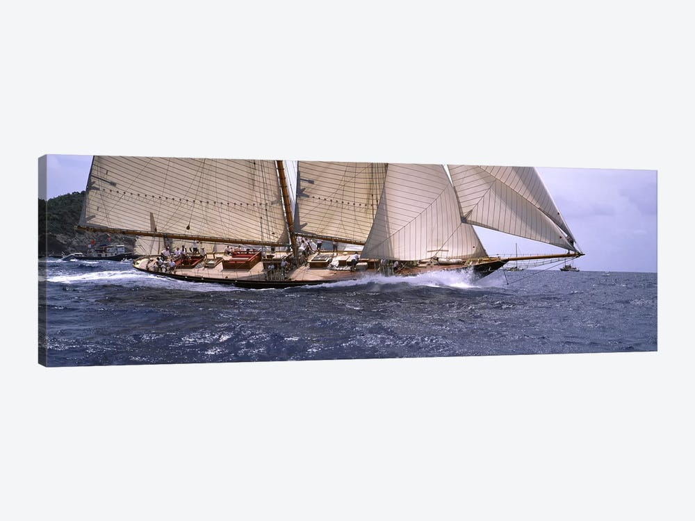 A Schooner Pounding Through The Sea by Panoramic Images 1-piece Canvas Art Print