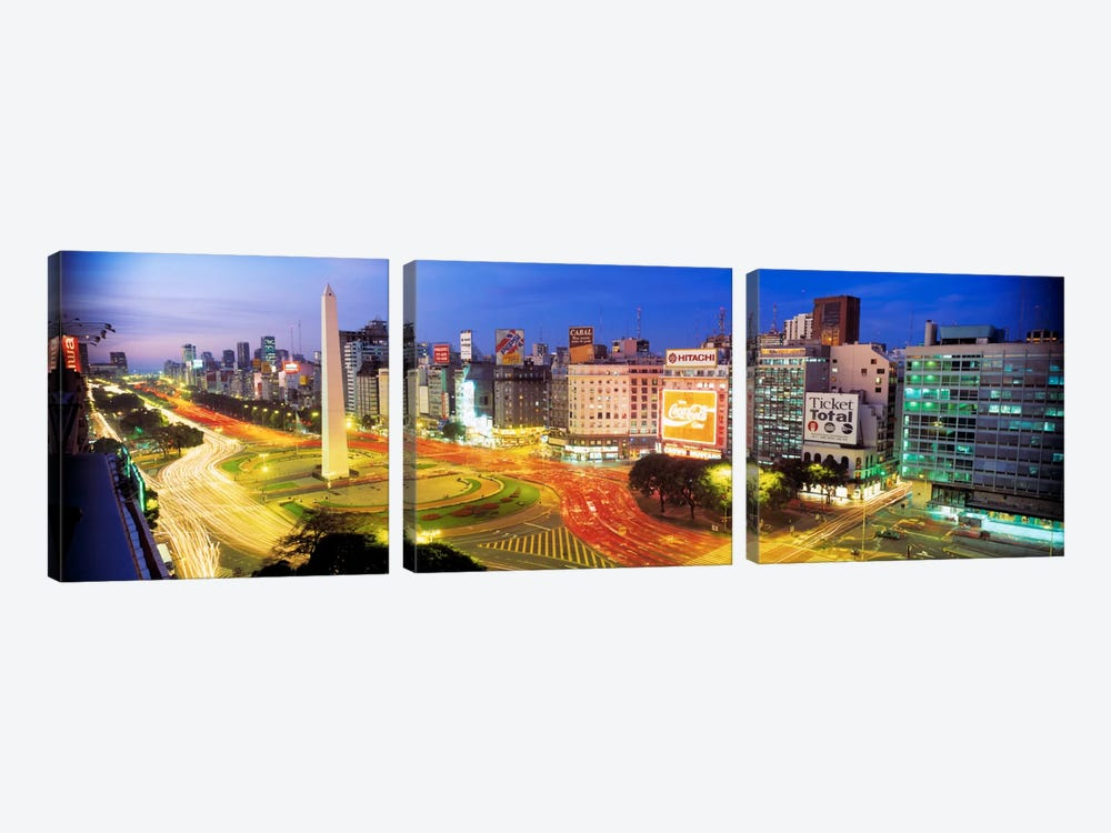 Obelisk Of Buenos Aires, Plaza de la Republica, Buenos Aires, Argentina by Panoramic Images 3-piece Art Print