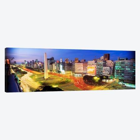 Obelisk Of Buenos Aires, Plaza de la Republica, Buenos Aires, Argentina Canvas Print #PIM687} by Panoramic Images Canvas Art Print