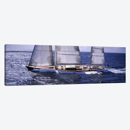 A Yacht Out For A Sail Canvas Print #PIM6881} by Panoramic Images Canvas Art