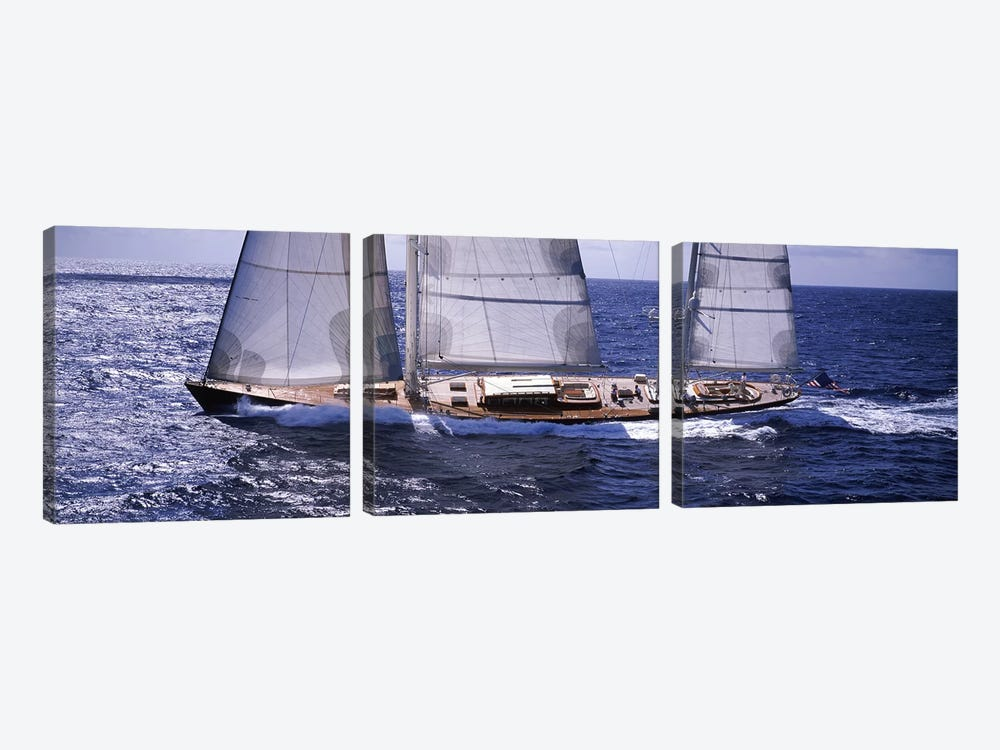 A Yacht Out For A Sail by Panoramic Images 3-piece Canvas Wall Art