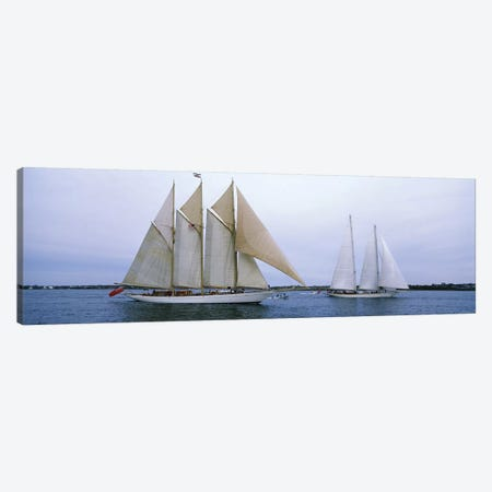 Schooners Under Way, Narragansett Bay, Newport, Rhode Island, USA Canvas Print #PIM6882} by Panoramic Images Canvas Wall Art