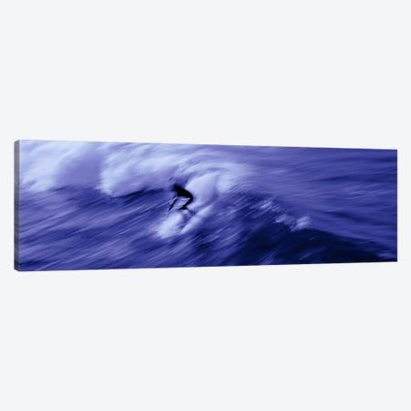 High angle view of a person surfing in the sea, USA Canvas Print #PIM6885} by Panoramic Images Canvas Art Print