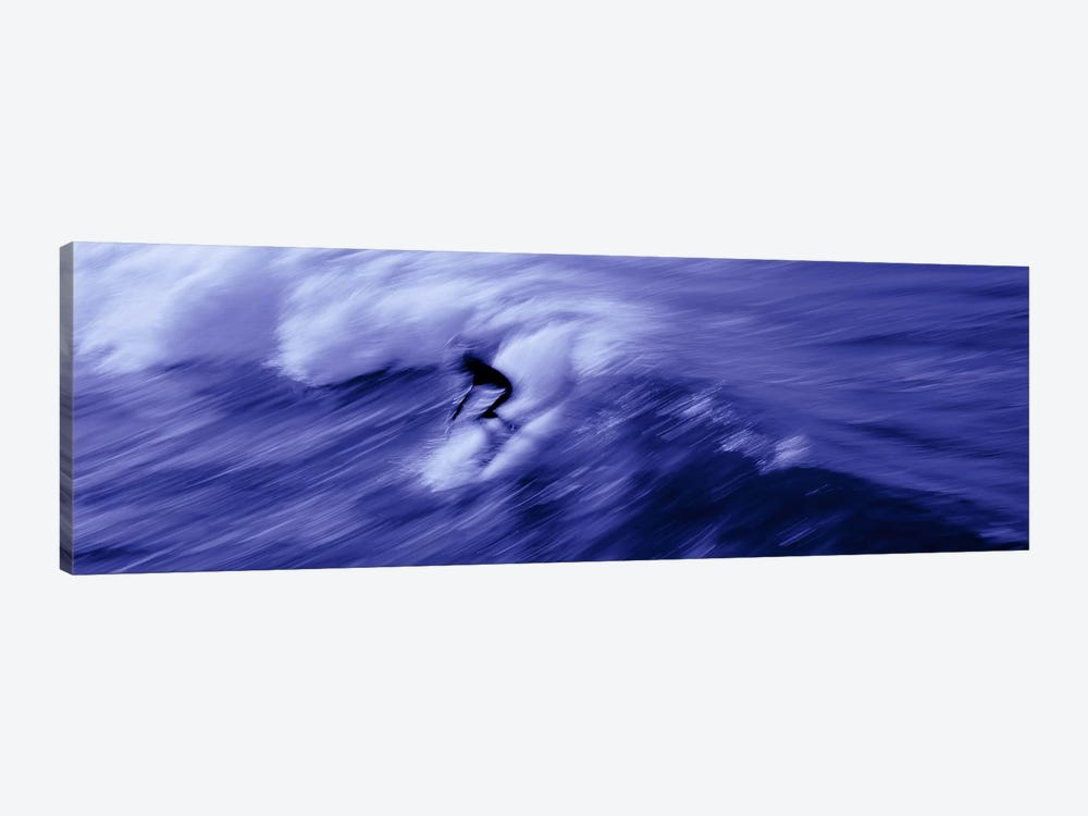 High angle view of a person surfing in the sea, USA 1-piece Canvas Wall Art