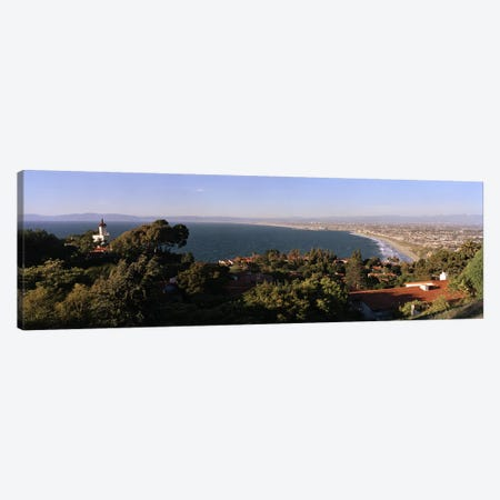 Aerial view of a coastline, Los Angeles Basin, City of Los Angeles, Los Angeles County, California, USA Canvas Print #PIM6886} by Panoramic Images Art Print