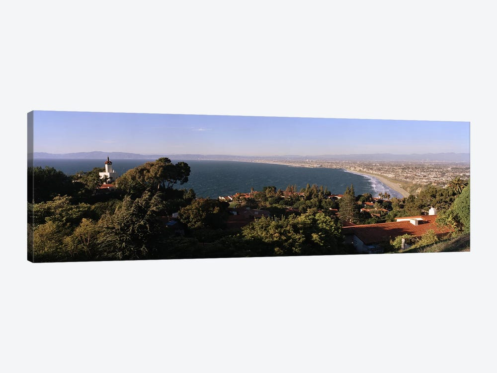 Aerial view of a coastline, Los Angeles Basin, City of Los Angeles, Los Angeles County, California, USA by Panoramic Images 1-piece Canvas Art Print